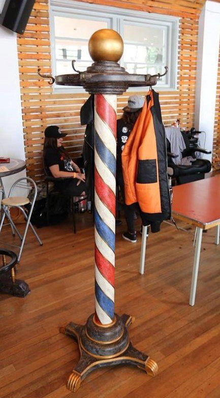 Perfect for any Barber Shop. Barber Shop Pole, Best Barber Shop, Local Barber Shop, Barber Shop Interior, Barber Shop Decor, Barber Shop Chairs, Barber Shop Names, Barbershop Design, Barbershop Ideas