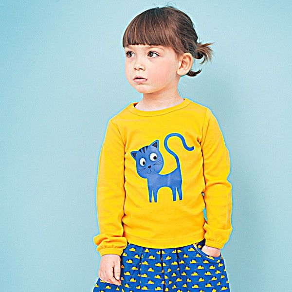 """Lily Balou - Kid's clothes Longsleeves """"Lien"""" cobalt blue doll - Winter 2014 (NEW!) - Collectie"""