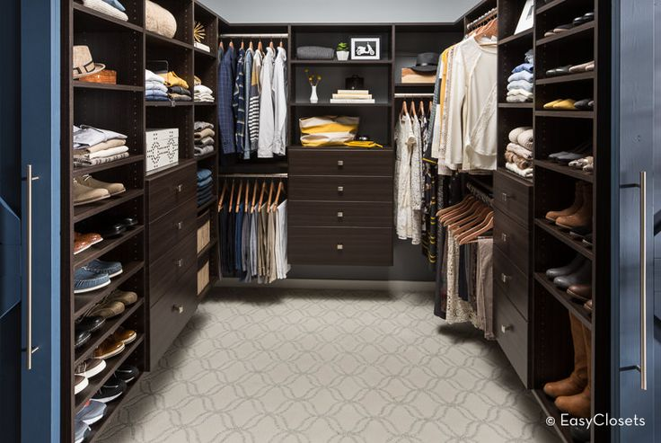 Check these rich, dark and luxurious walk-in closets for men. They're amazing.