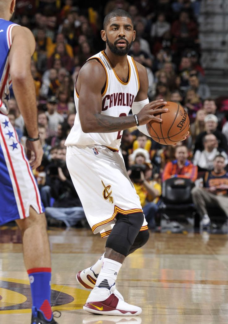 Kyrie Irving wearing a 'Cavs' Nike Kyrie 2 PE (2)