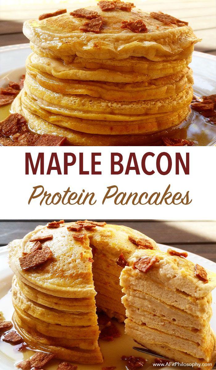 Maple Bacon Protein Pancakes, gluten free