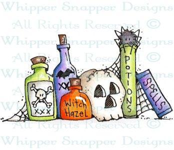 Halloween Grocery List - Halloween Images - Halloween - Rubber Stamps - Shop