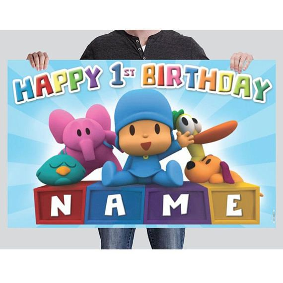 BANNER  Pocoyo Birthday Banner