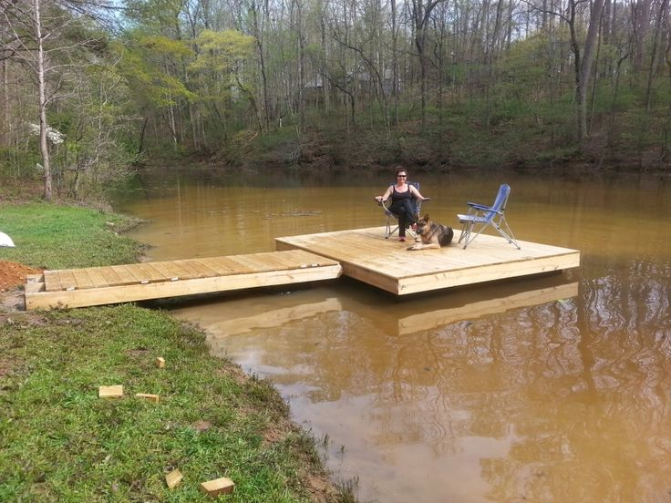 how to build a floating dock with 55 gallon drums