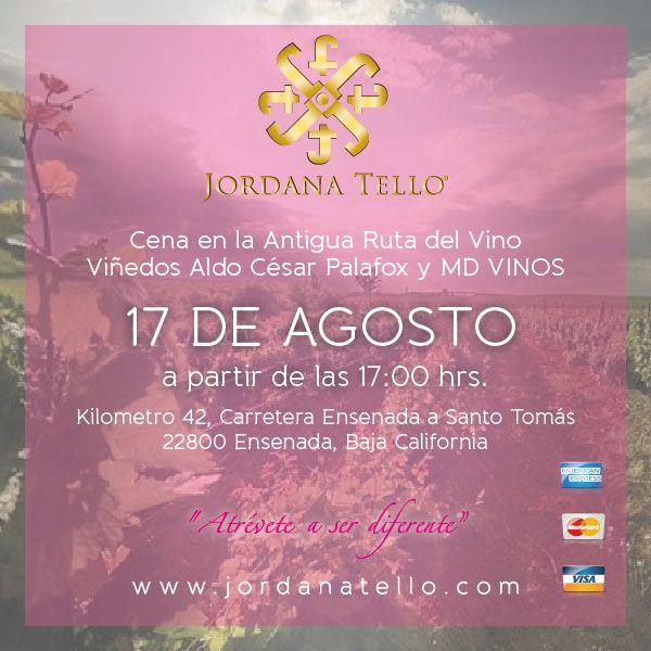 Venta Especial en la Cena Madrilaje en los VIñedos Aldo César Palafox Sábado 17 de Agosto, Ensenada B.C.