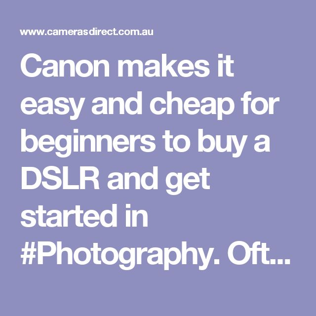 Canon makes it easy and cheap for beginners to buy a DSLR and get started in #Photography.  Often the cheapest way to buy a Canon DSLR camera is to buy it with a lens, know as a Lens Kit. In this case it would be a Canon 1300d Lens Kit.  You can buy the Canon 1300d bundled up with a Canon 1300d 18-55mm as a Lens Kit or you might pick a Canon 1300d + 18-55mm + 55-250mm Twin Lens Kits for instance. There are a lot of Canon Lens Kit options so please come in and have a chat or call us…
