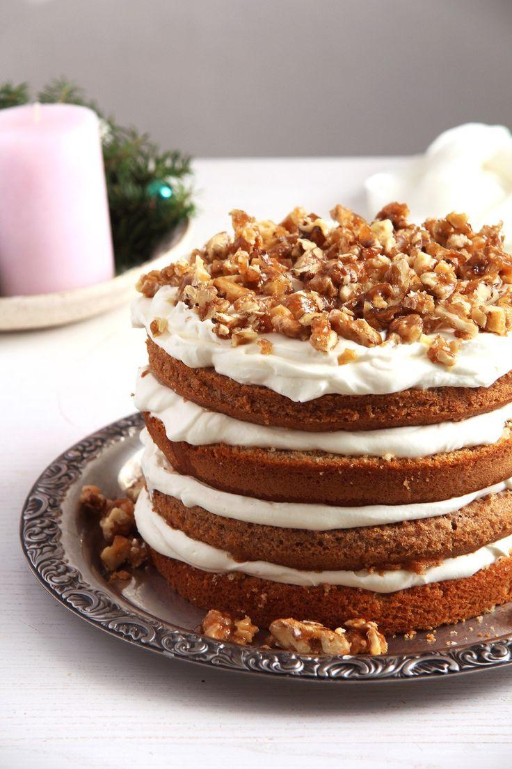 Caramelized Walnut Cake
