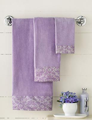 lavender bathroom | Lavender Veronica Cotton Bathroom Towel Set