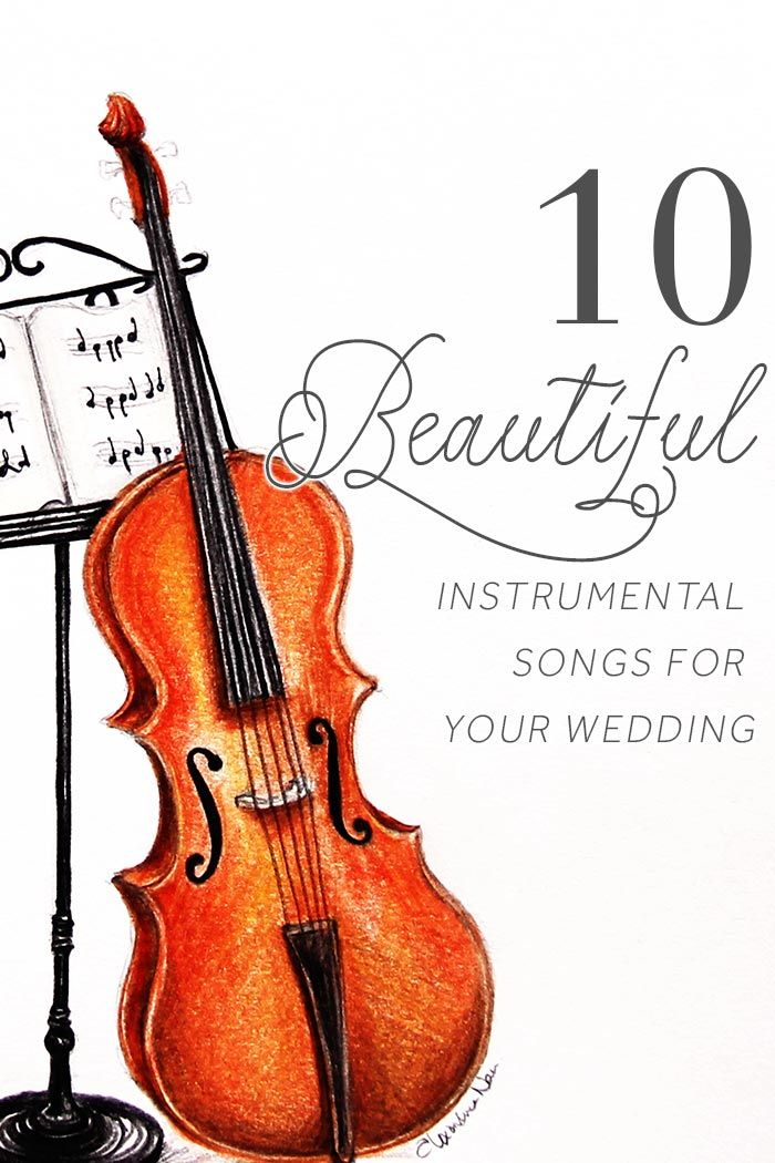 10 Instrumental Wedding Songs Illustration By Alexandra Nea