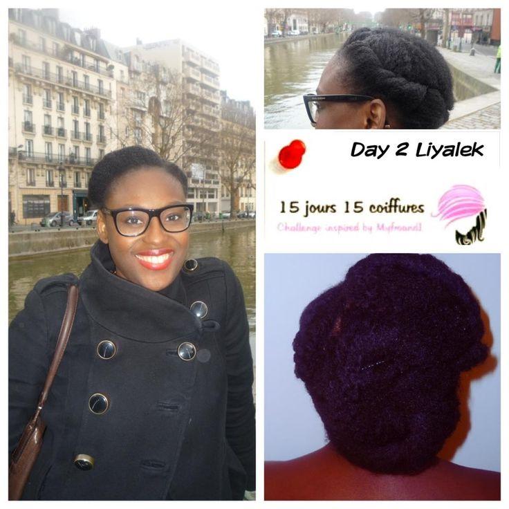 2 ème jour: chignon sur cheveux crépus