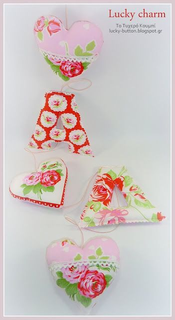 Happy Sewing! lucky charm, heart, letters
