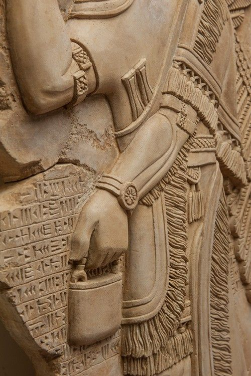 The art replica of an assyrian eagle-headed god Nisroch bas relief is handcrafted by our sculptors and craftsmen.