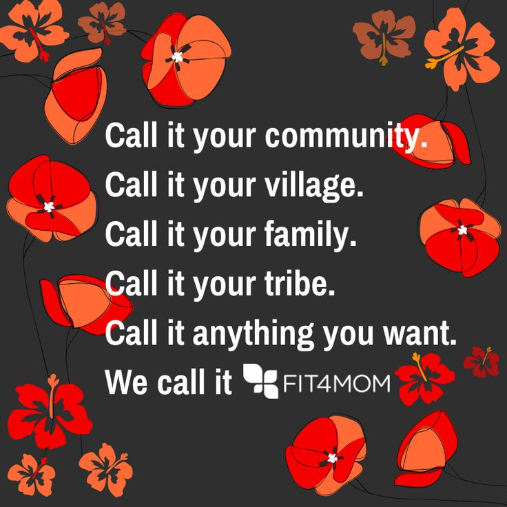 The #FIT4MOM word of the month is COMMUNITY! Check out why it's so important to us... http://fit4mom.com/latest/blog/fit4mom-word-of-the-month-community