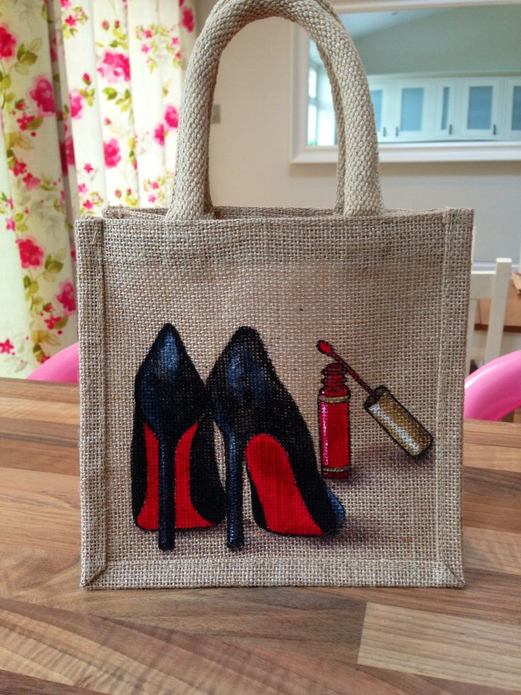 Tiny jute Bags for ladies who love Shoes, makeup and all things Girlie....