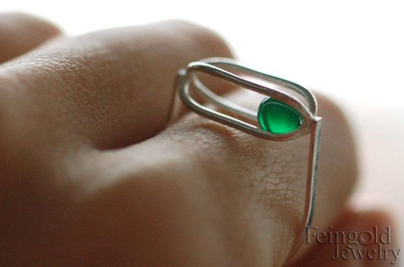 Gravity Collection: Sterling Silver Ring with by feingoldjewelry