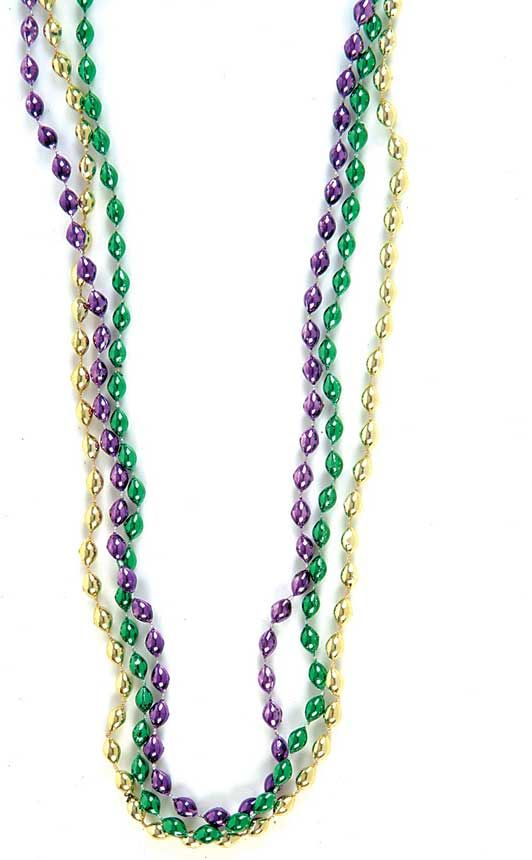 "mardi+gras+beads | Bulk 33"" Mardi Gras Oval Beads"