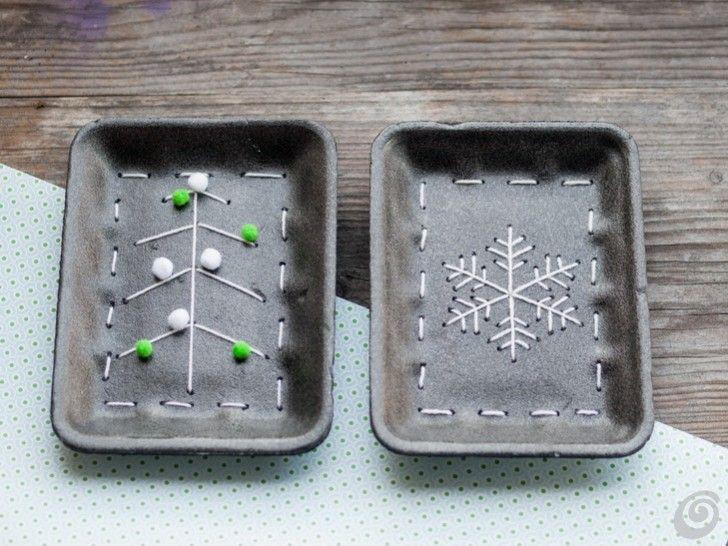 Lavoretti per bambini - riciclo creativo vaschette alimentari di polistirolo e tante altre idee