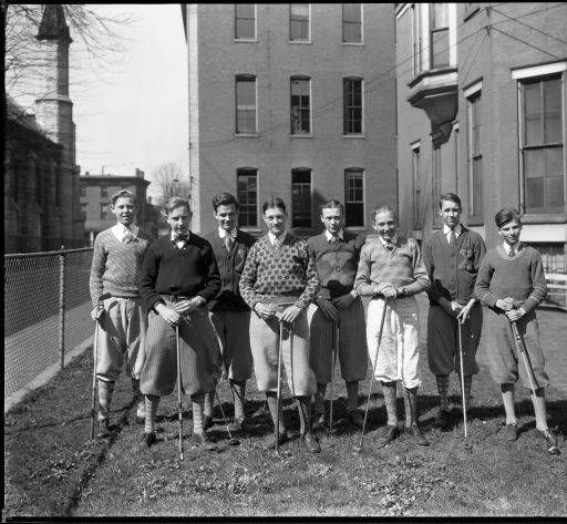 Golf team at St. Xavier's College (High School) 118 W. Broadway St.., Louisville, Kentucky, 1928.