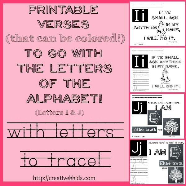 Printables for verses that go with the letters G & H (John 14:14 and John 14:6)