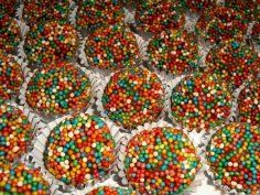como hacer trufas de chocolate (o vainilla) receta facil.