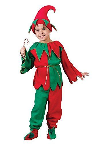 Kids Elf Costume RedGreenMedium810 ** You can get more details by clicking on the image.