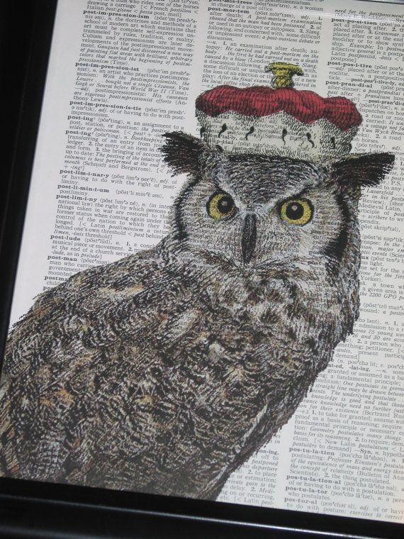 BOGO Sale Owl Couple II Dictionary Art by HamiltonHousePrints