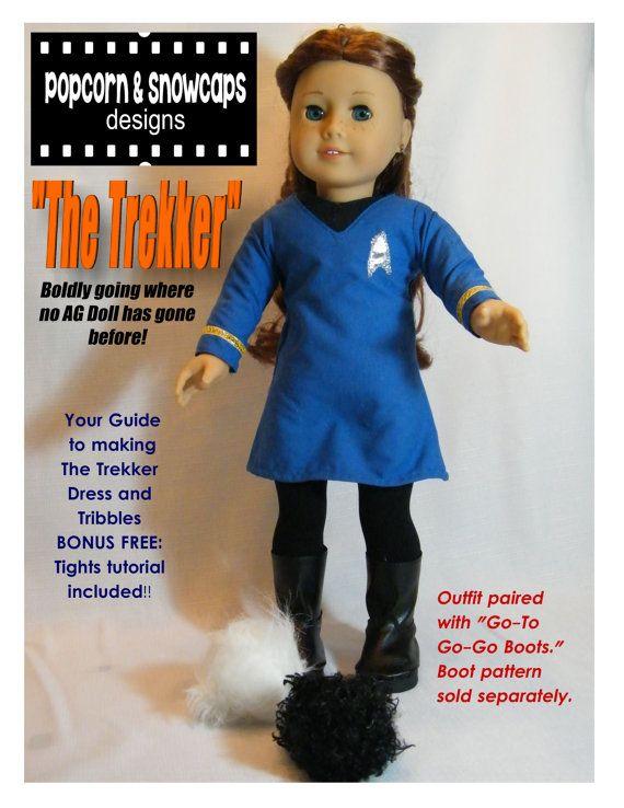Star Trek Costume PDF pattern for American Girl Doll.  Must make for Jasmine's doll!