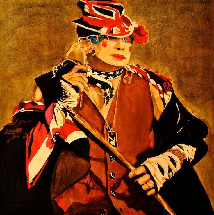 Directrice du cirque - 2013 - 80x80 - olio su tela  Pittore curioso Andrea Albonetti