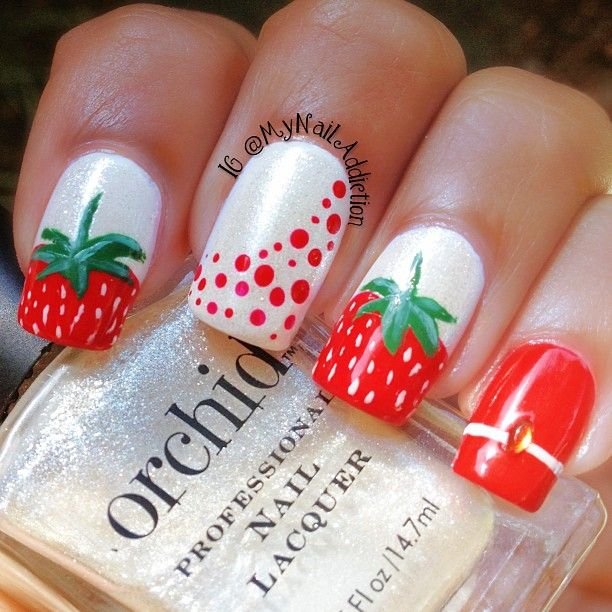lovely strawberry nails by mynailaddiction Iconosquare – Instagram webviewer