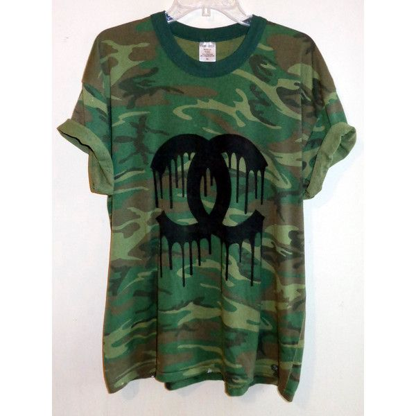 Melting Shanel Camo Tee ($40) ❤ liked on Polyvore featuring tops, t-shirts, shirts, tees, tie dyed t shirts, tee-shirt, tie-dye shirts, camo shirt and tie dyed shirts