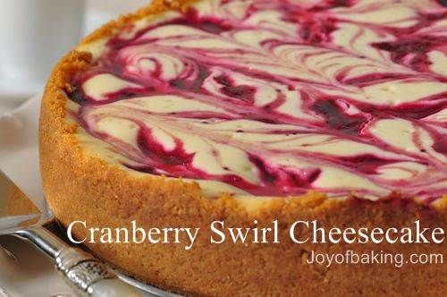 Cranberry cheesecake, oh so yummy: Christmas Desserts, Joyofbak Com, Swirls Cheesecake, Recipes Test, Cranberries Cheesecake Recipes, Christmas Dinners Recipes, Test Recipes, Cranberries Swirls, Holidays Desserts