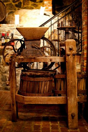 winepress  Once upon a time Papa Giuseppe had one of these down in his wine cellar in Hibbing Minnesota  along with 4 oak barrels that he made from scrap lumber from the ore mines  miss those memories