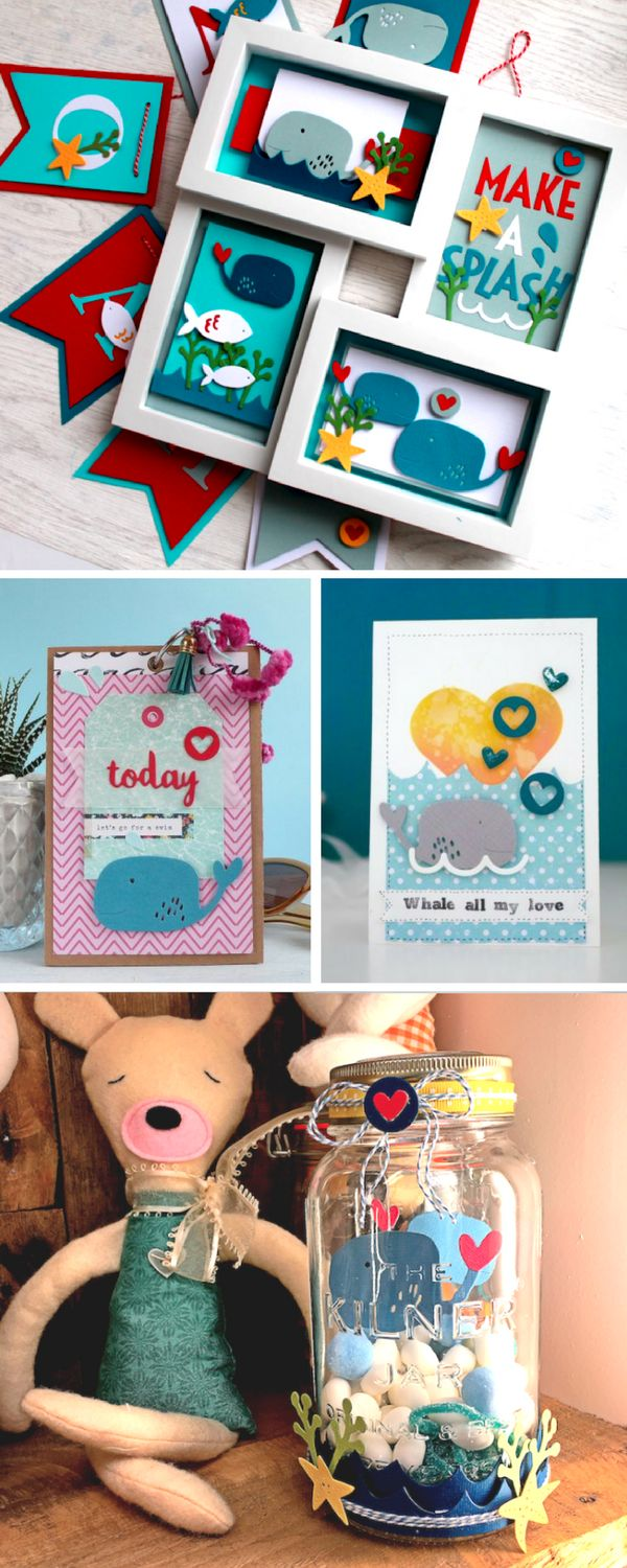 From whale frames to under the sea Kilner jars, we've crafted some pretty impressive Under The Sea crafts with our new Sizzix dies. Take a look at our favourite handmade crafts so far- DIY Crafts - papercrafts -DIY papercrafts - kids crafts