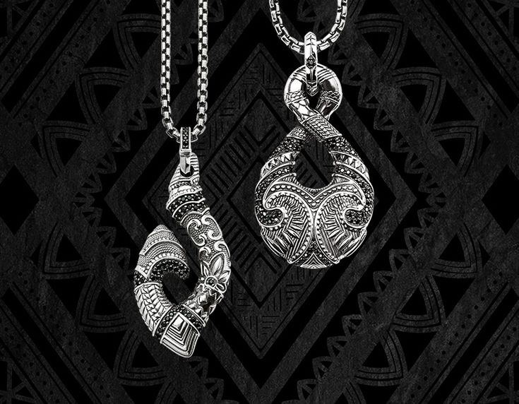 Silber Schmuck Maori Symbole