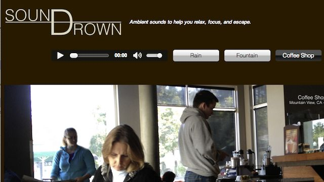 Amazing. You can even hear the coffee grinder! Soundrown Plays Coffee Shop Noise, White Noise, Rain, and More to Help You Focus