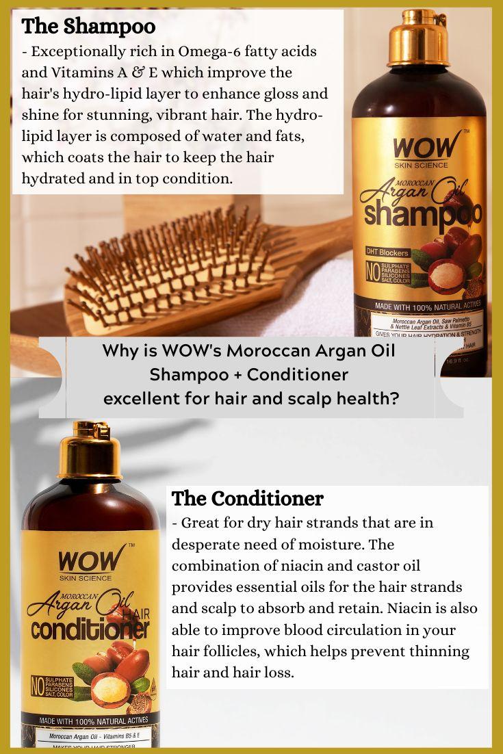 Optimieren Sie die Gesundheit von Haar und Kopfhaut mit WOW – Moroccan Argan Oil Shampoo & Conditioner