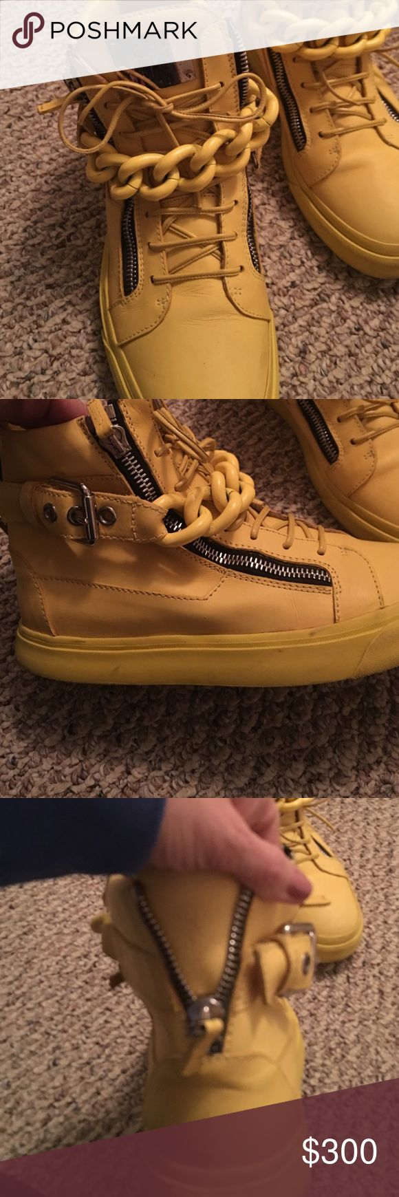 Men's Guiseppe Zanotti Yellow Sneakers sz 43 Giuseppe Zanotti Shoes Sneakers