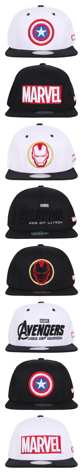"""ililily Marvel Comics New Era Style Snapback Hat Baseball Cap Collection"" by ililily ❤ liked on Polyvore"