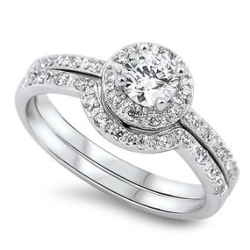 https://ariani-shop.com/sterling-silver-engagement-ring-round-halo-setting-wedding-ring-set-10mm-size-5-to-10 Sterling Silver Engagement Ring Round Halo Setting Wedding Ring Set 10MM ( Size 5 to 10)