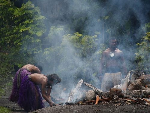 Firewalking The influence of Indian culture and traditions on Fiji is perhaps nowhere as obvious as the fire walking ceremonies. Within some tribes, the ability to walk on a hot surface is a great honor, and the act is treated with great ceremony.