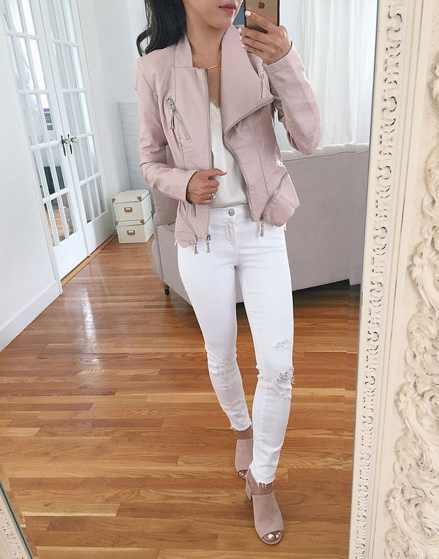 blank nyc moto jacket pink nordstrom sale petite fashion reviews