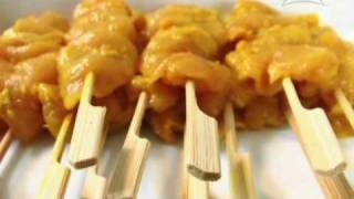 Thai Cooking Recipe Chicken Satay With Peanut Sauce Fro