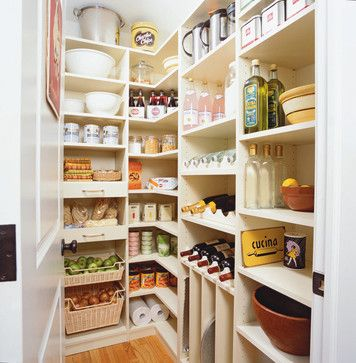 """A walk in pantry - a must have in every dream kitchen. From """"My Dream Kitchen by Emerald Interior Design."""