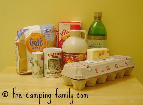 Here's our breakfast food for camping.
