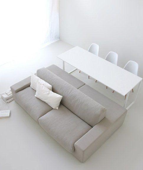 sofa / table ISOLAGIORNO™ class+slim by LAYOUT ISOLAGIORNO™ by Farm | design Arkimera architecture and design