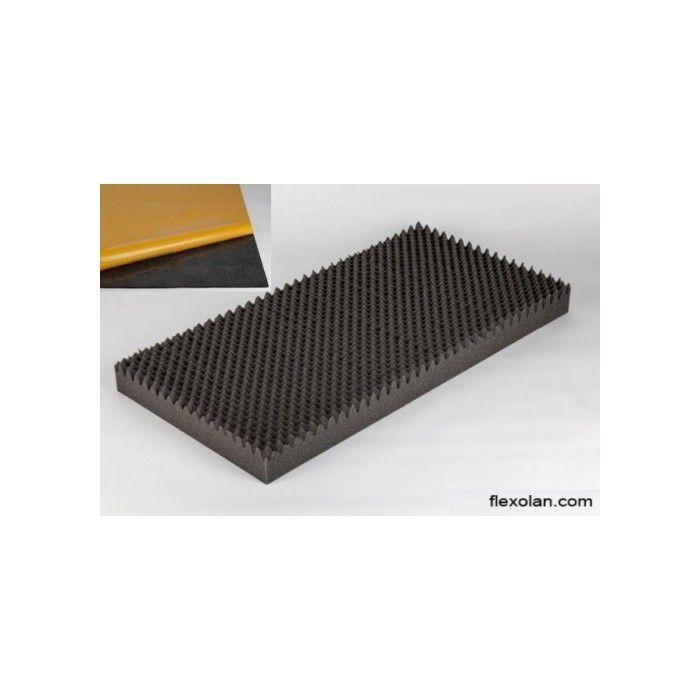 Mousse acoustique alvéolaire MicroPor 100x50x9cm anthracite autocollante