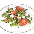 Zomersalade met tomaten, boontjes, dragon en geitenkaas - recept - okoko recepten