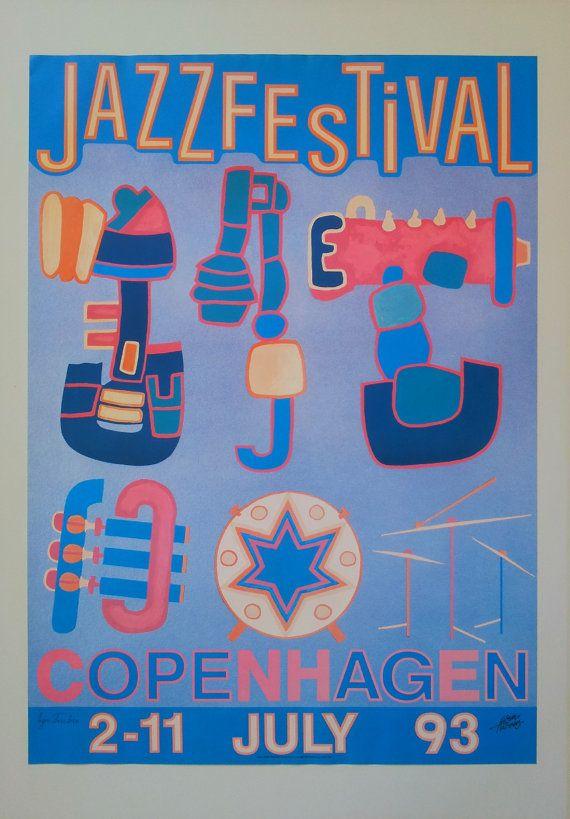 1993 Copenhagen Jazz Festival  Original Vintage by OutofCopenhagen