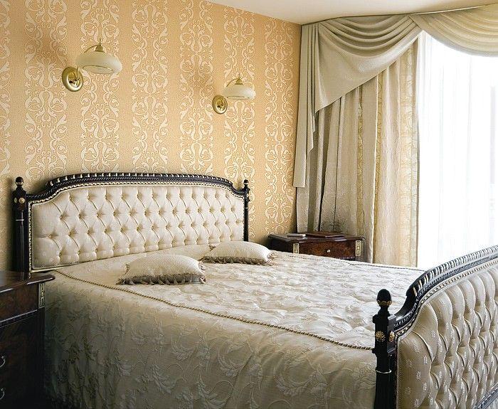 Barok behang neo behang damast behang EDEM 829-22 saffraan-geel goud parelmoer accent | 70 cm