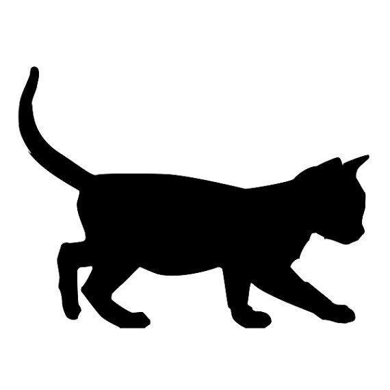 Kitten Black Cat Vinyl Wall Decal by Geekazoid on Etsy, $7.00